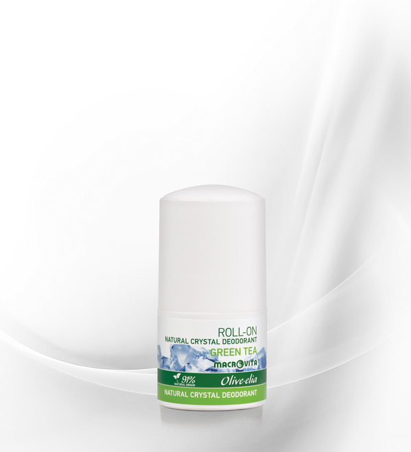 OLIVELIA DEODORANTE NATURALE ALLUME DI POTASSIO ROLL ON TE' VERDE 50 ML.
