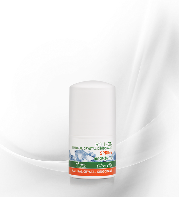 "OLIVELIA DEODORANTE NATURALE ALLUME DI POTASSIO ROLL ON"" SPRING"" 50 ML."
